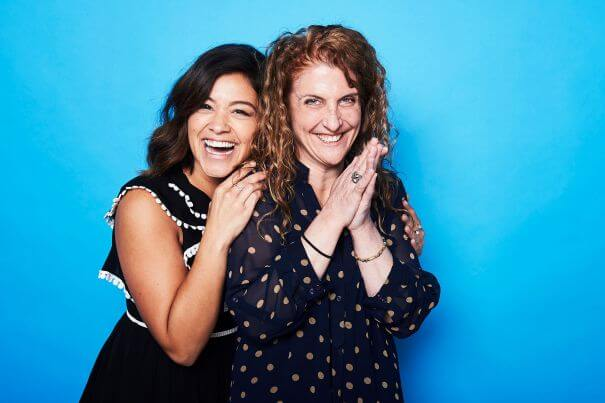 Mandatory Credit: Photo by Buckner/Deadline/REX/Shutterstock (8588024ae) Gina Rodriguez and Jennie Snyder Urman The Contenders Emmys, presented by Deadline, Photo Studio, Los Angeles, USA - 09 Apr 2017