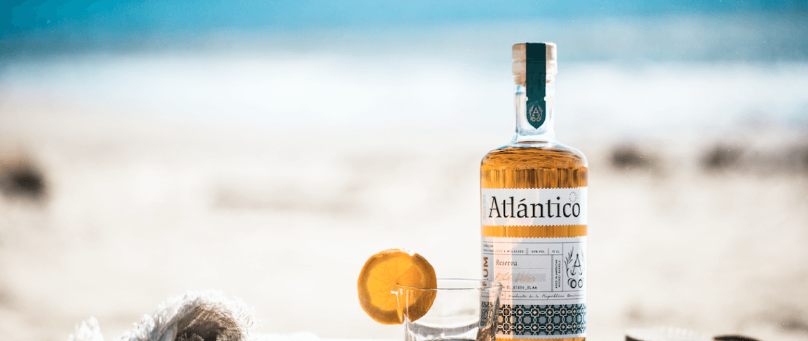 Atlantico Rum on the beach
