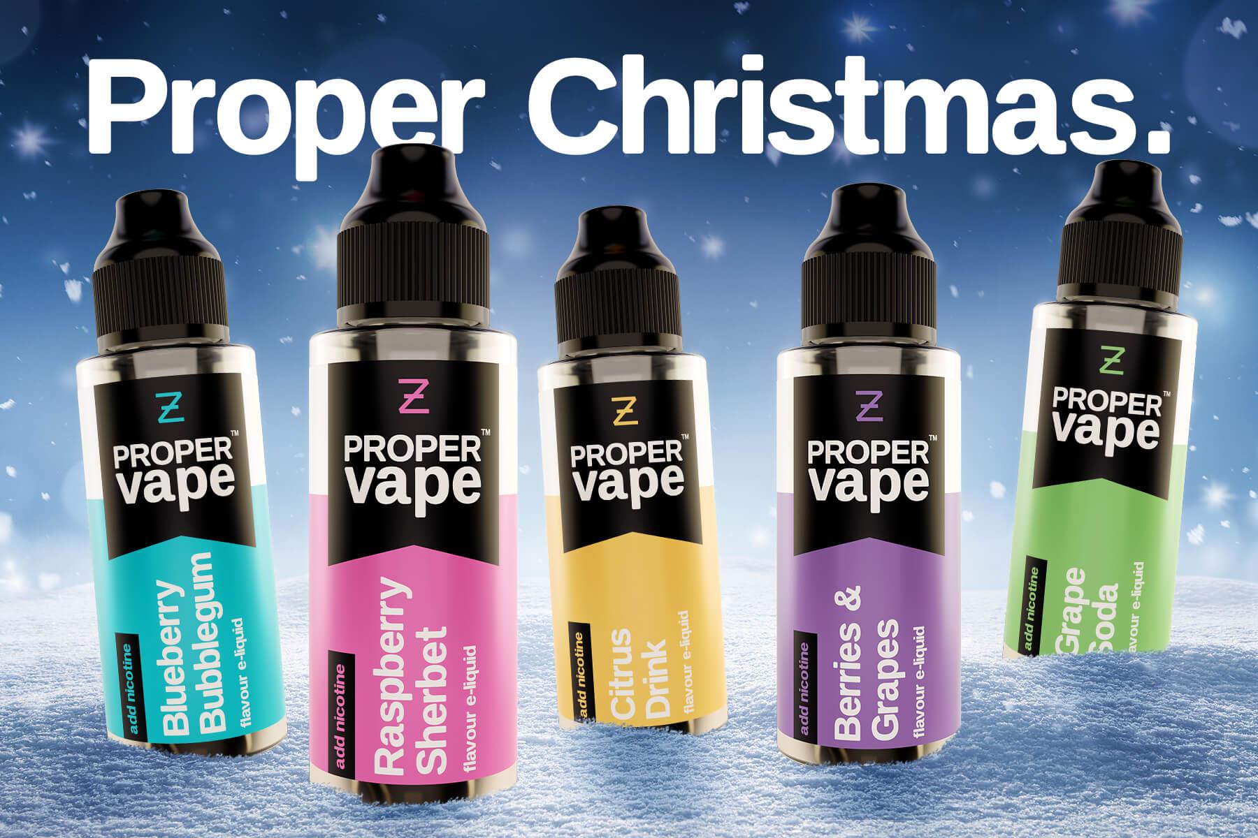 The Proper Vape product range